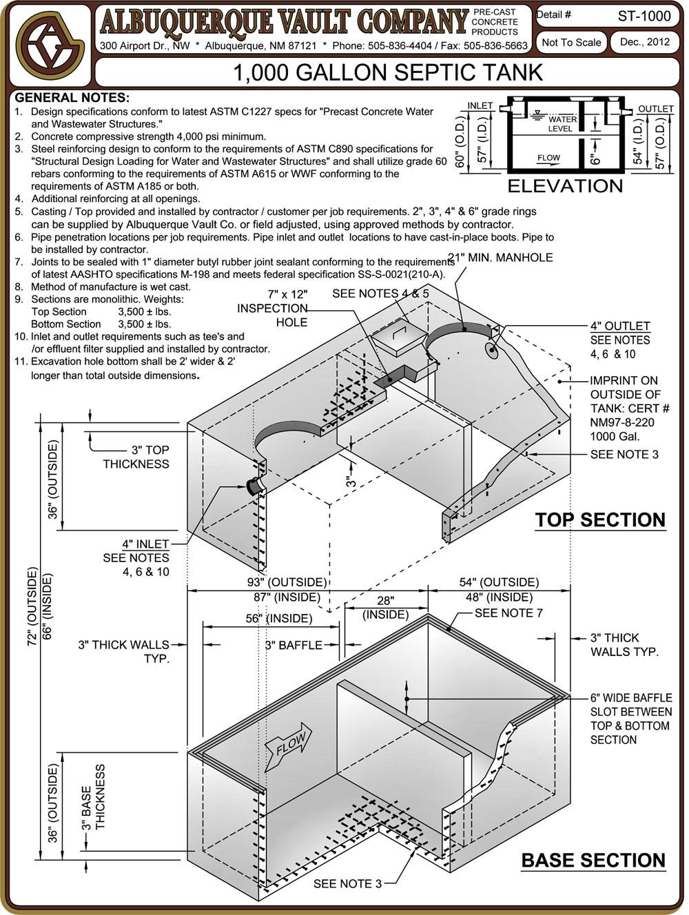 Septic Tanks – Precast Concrete Supplier Albuquerque NM Manholes ...