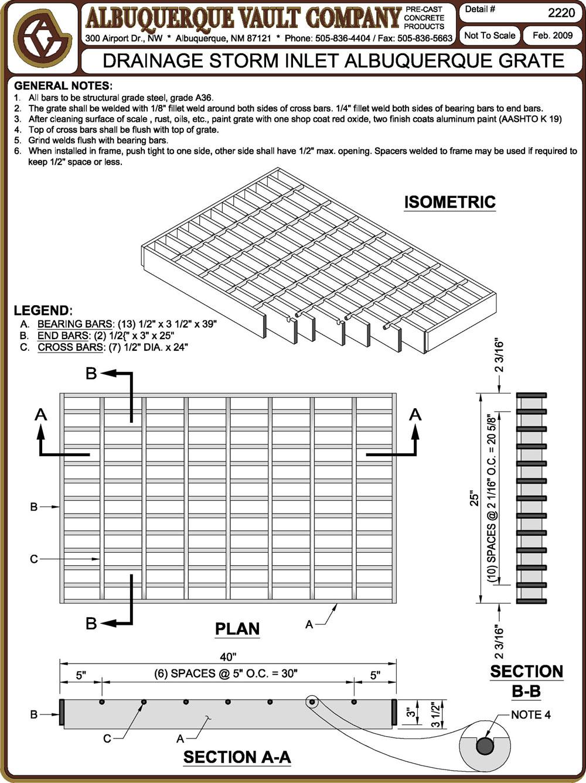 Storm Drainage Precast Concrete Supplier Albuquerque Nm